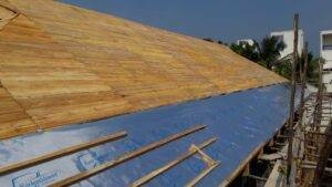 Veltisun RadenShield application on wooden fabrication and ongoing project