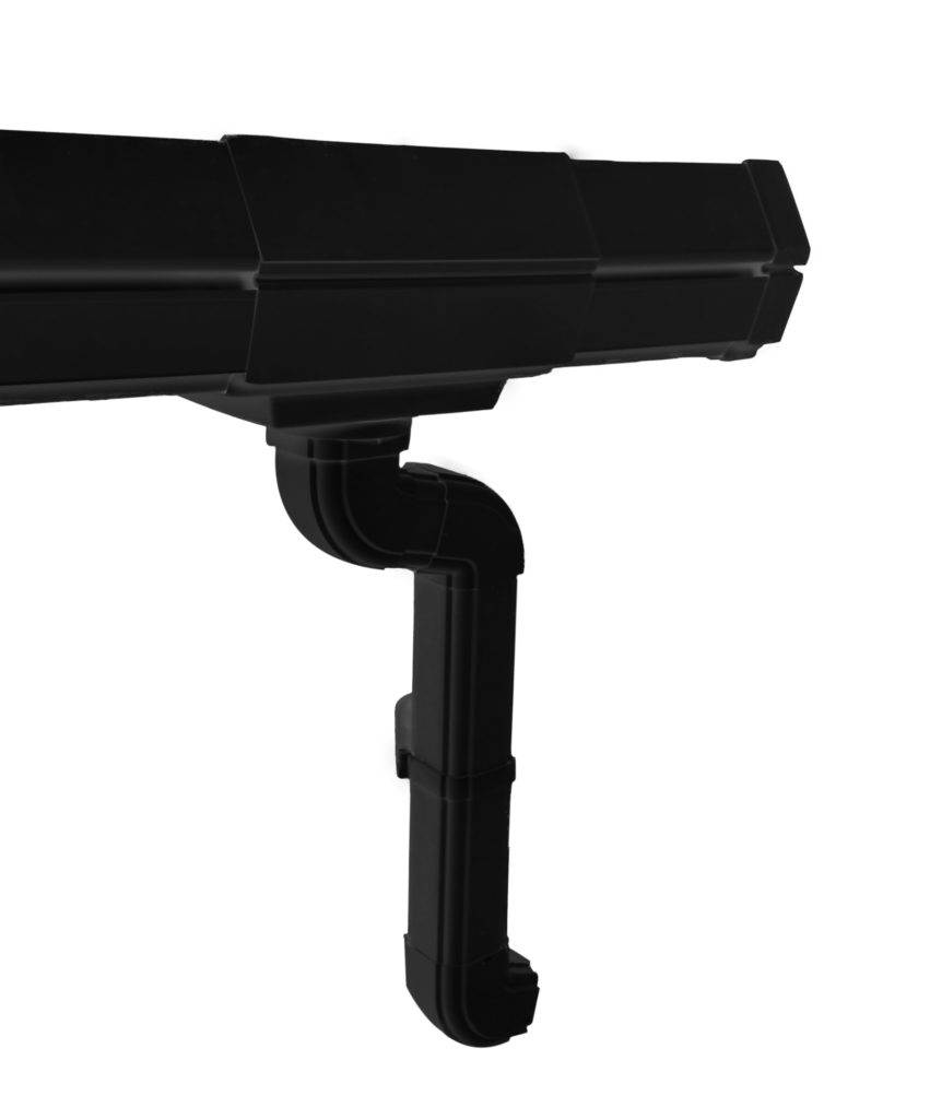 Luxron - rain water Gutter - Black closeup view