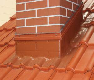 Chimney Sealed with Wakaflex for waterproof and leakage proof